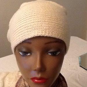 Beige free people knit Hat
